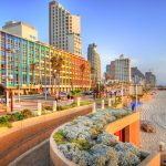 Colorful,Hdr,Image,Of,Tel,Aviv,Beach,With,Some,Of